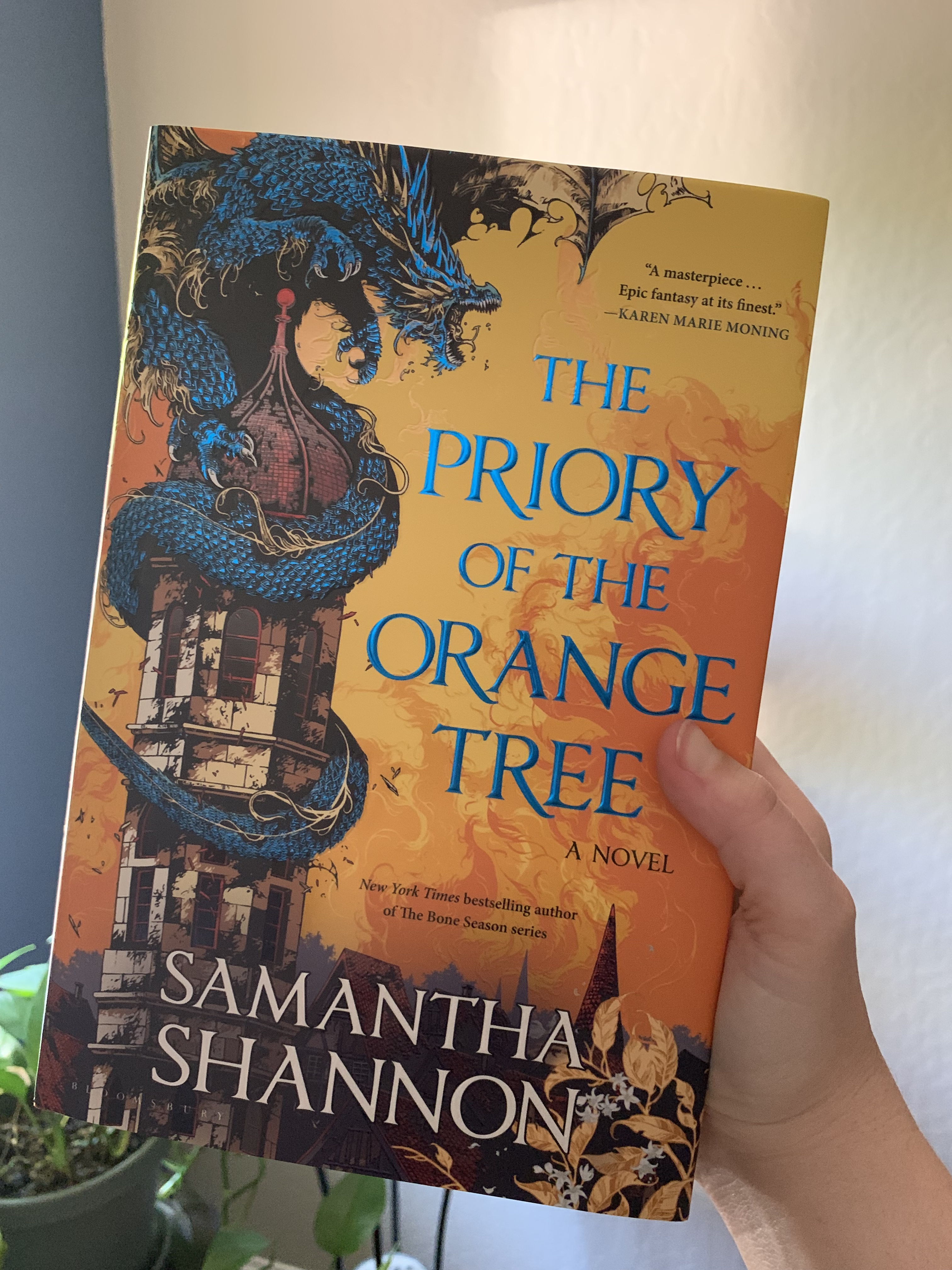 """image of Samantha Shannon's hardcover book """"The Priory of the Orange Tree"""""""