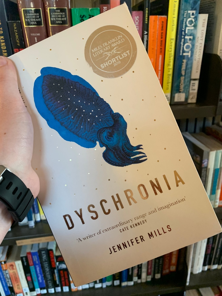 "image of Jennifer Mills's book ""Dyschronia"""