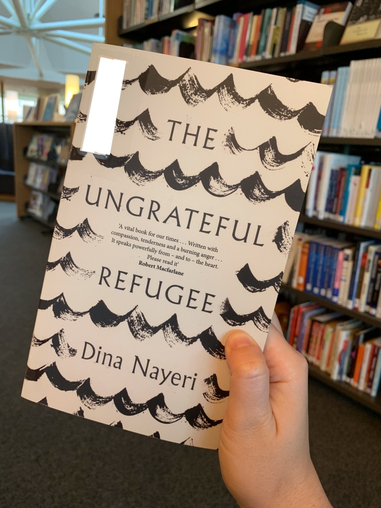 "image of dina nayeri's book ""the ungrateful refugee"""