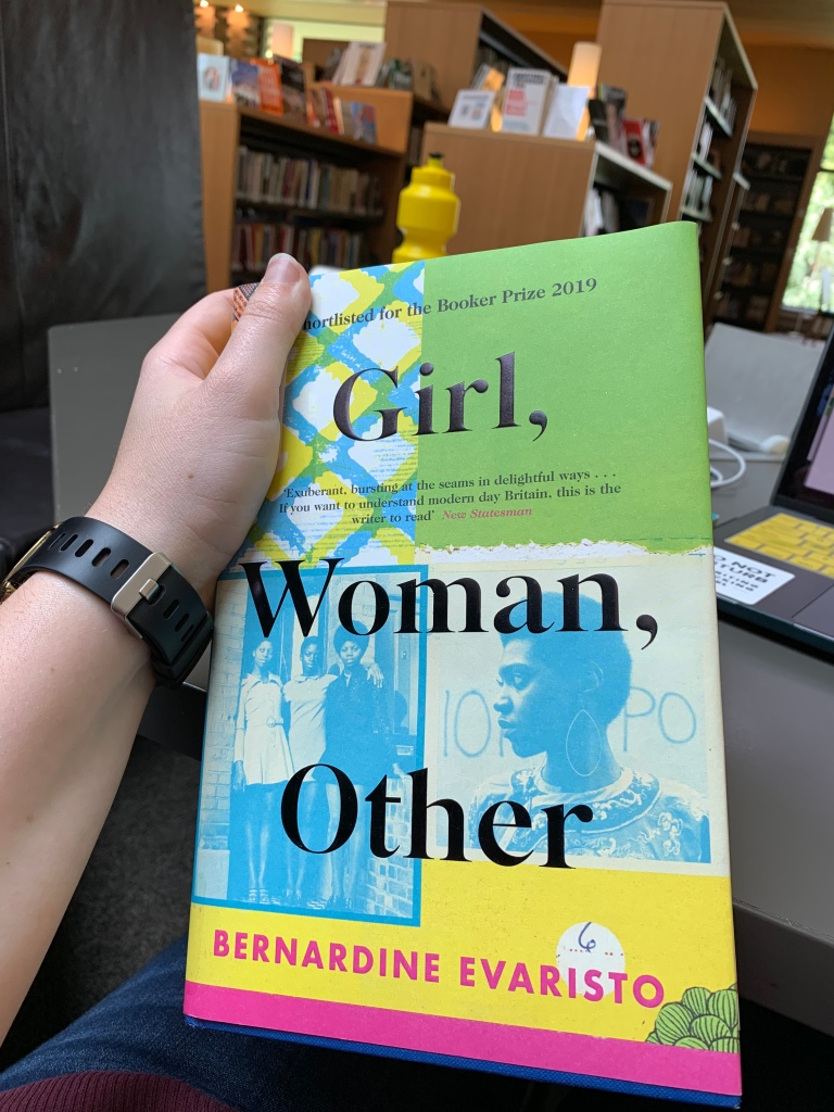 "image of Bernadine Evaristo's novel ""Girl, Woman, Other"" winner of the Man Booker Prize 2019"