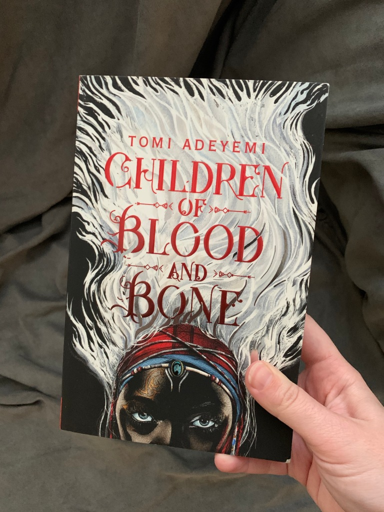 "image of tomi adeyemi's book ""children of blood and bone"""