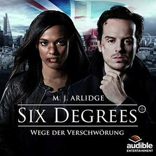 image of the audible cover for six degrees of assassination with an image of actress freema agyeman and actor andrew scott